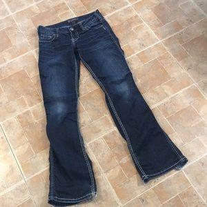Silver boot cut jeans size women's 27/31